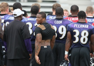 Ray Rice, running back for the Baltimore Ravens.